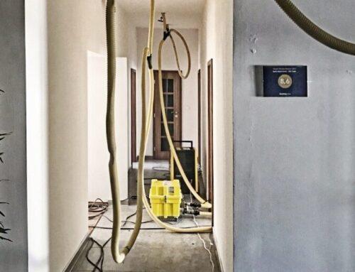 Vysoušení bytového domu Praha 1