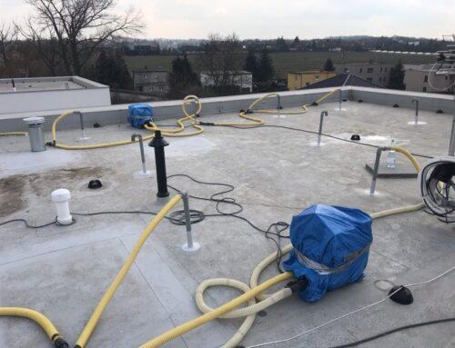 Vysoušení ploché střechy vhorších klimatických podmínkách